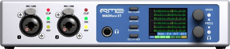 The MADEface XT is a specialty MainStage interface for digital-only I/O.
