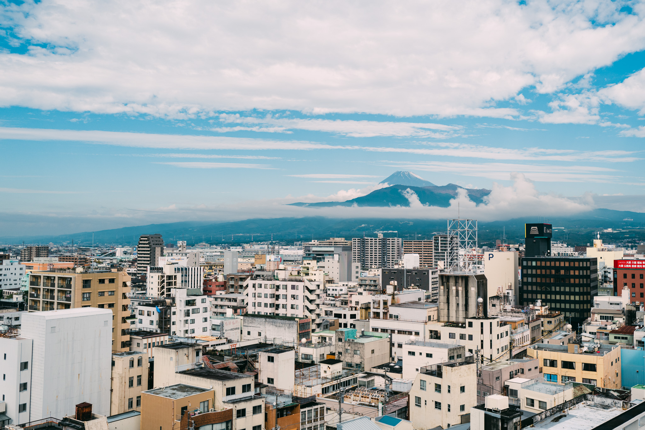 Mt. Fuji from a hotel in Numazu, Japan.
